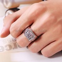 Check out NSCD Diamonds studded 950 Platinum Plated 925 Sterling Silver rings for men and women that can be custom engraved with name, date or a love quote or special symbol like heart �™�.