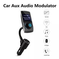HY-68 Bluetooth FM Transmitter QC 3.0 Wireless In-Car Radio Adapter Handsfree LED Display Dual USB 1A 2.1A Car Charger
