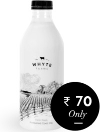 Whyte Farms Fresh Cow's Milk is an honest attempt to serve nutritious, chemical-free and preservative-free milk. It's an equivalent of serving fresh whole milk from your own farm while being present in an urban living. The organic milk is 100&...