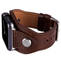 Leather Cuff Bracelet Band for Apple Watch 38mm 42mm 40mm 44mm Iwatch Series 5 4 3 2 1 $48.99