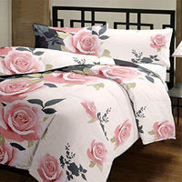 NEW Home living Cotton Floral Designs Reversible AC Blanket/Dohar/Quilt for Home (Single, Multi-coloured) $49.61