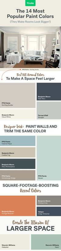 Learn about the best paint colors for small rooms, and get tips on how to use them to make your space look bigger and brighter.
