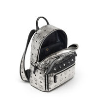 MCM Small Dual Odeon Stark Backpack In Silver