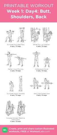 Week 1: Day4: Butt, Shoulders, Back: my custom printable workout by