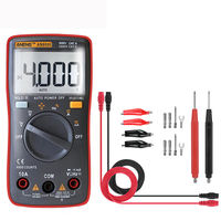 ANENG AN8000 Red Digital Multimeter Voltmeter Ammeter Ohmmeter Volt AC DC Ohm Tester Meter + Test Lead Set