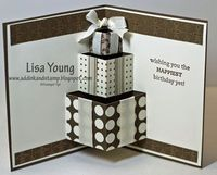 Cute pop up card made by Lisa Young of www.addinkandstamp.blogspot.com. This is the inside.
