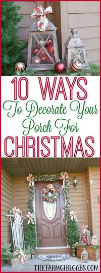 It's time to deck the halls for Christmas! Here are 10 Ways To Decorate Your Porch For Christmas. #BoscovsHolidayHomeTour