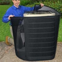 Gotta check this one out...Solutions - PreVent AC Filter Improve your air conditioner's efficiency up to 21%! Lower your utility bills by wrapping the PreVent Air Conditioner Filter around your central AC unit! The fine-mesh material is designed...