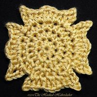 Maltese Cross Applique ~ free pattern �›� make it into a square for fireman blanket