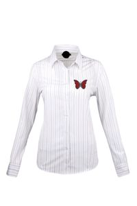 BUTTERFLY-FLY Womens Long Sleeve Dress Shirt $60
