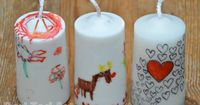 Art Candles - Gifts for Kids to Make
