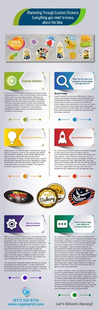 Product Marketing Via Customized Stickers