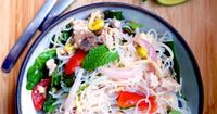 Yum Woon Sen | Spicy Thai Glass Noodles Salad Recipe | ยำวุ�‰�™�€ส�‰�™ I love Thai food. I could eat it 3-4 times a week and this is a simple salad with lots of spark.