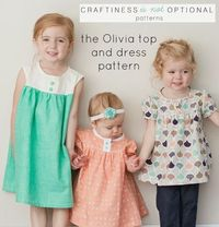 craftiness is not optional: the Olivia top and dress pattern is here!
