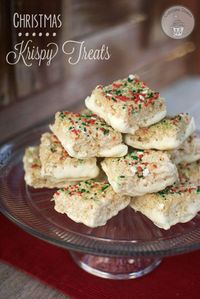 These Christmas Krispy Treats are going to knock your stockings off!