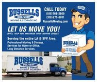 In Beverly Hills, Russell's Moving and Storage is the quickest moving service provider in order to provide effective solutions for customers. The experts offer quality performance and put their maximum efforts to complete your moving or storage job ...