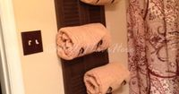 DIY Shutter Towel Rack - This is the answer to my issue in the bathroom. Thanks for this idea! Doing it soon. :-)