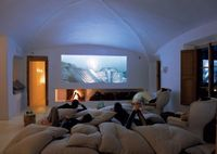 "Love this cozy media room, less ""white"" though and more ""warm"" colors though.."