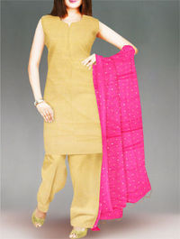 Shop online stylish chiffon dupatta at unnatisilks.com Pink color chiffon chunni. It is golden printed dupatta.Team this with matching tunics and crystal studs for a stunning effect! To buy online chiffon dupattas please visit our site http://www.unnati...