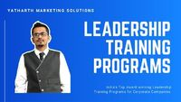 Yatharth Marketing Solutions is Among Top Most Leadership Training Companies based in India, Ahmedabad, Mumbai, Bangalore, Pune & Dubai offers Inspired Leadership Training Programs for Leading Strong Teams and Ethical Leadership. For More information ...