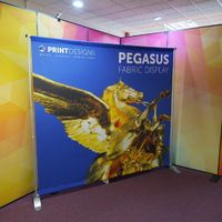 The Pegasus Banner Stand is a lightweight and compact alternative when compared to a traditional, wide roller banner stand. Pegasus banner stands are the ideal solution for those looking for a large display wall but in a format that is as small and conve...