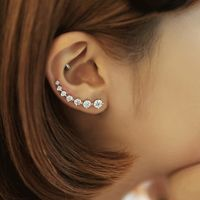 New High Quality Super Shiny Zircon 925 Sterling Silver Earring for Women Jewelry $5.04