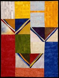 �€œSouth�€,Janet Steadman Arrows and rectangles, fascinating and the colors are just wonderful