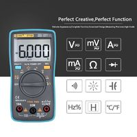 ZT102 Ture RMS Digital Multimeter AC/DC Voltage Current Temperature Ohm Frequency Diode Resistance Capacitance Tester