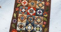Quilt by Thread Head: Pattern is Square Dance from the book 'Fat Quarter Quilting' by Lori Smith