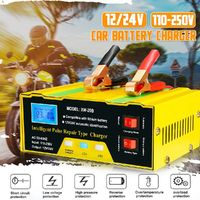 12V/24V Car Battery Charger Full Auto Intelligent 10A Pulse Repair Maintenance