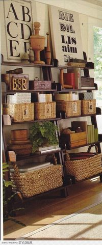 organizing and decorating with baskets.