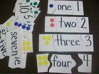 Maybe just do the dots and number to start, then add the spelling of the number later