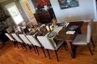 Super Big Farmhouse Dining Table and Bench   Do It Yourself Home Projects from Ana White