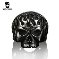 Vintage Men's Rings Punk Motorcycle Biker | Black Skull Skeleton $22.00