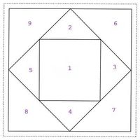 free square in square paper piecing pattern