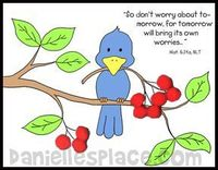 Free Scripture Clip Art on healing   Children glue red pompoms on to the picture to make cherries. (A ...