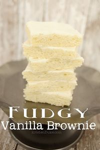 This delicious and fudgy vanilla brownie is also known as a White Texas sheet cake and will knock your socks off!
