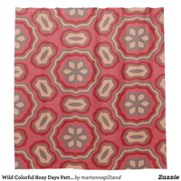Wild Colorful Rosy Days Pattern Shower Curtain