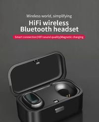 Bakeey L1 TWS HiFi bluetooth 5.0 Earphone In-Ear Wireless Stereo Bilateral Call Waterproof Sports Headphone with Charging Box