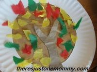 Fall Tree Sun Catcher (from There's Just One Mommy)