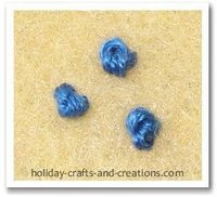 french knots and knots.