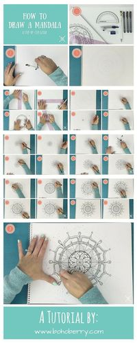 I've learned how to draw a mandala as a way to relax. I often get asked how I got started. Here is a step-by-step guide to draw your own mandala.