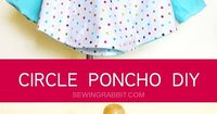 How to make an easy raincoat using this circle poncho DIY, all you need it some cute laminated cotton!
