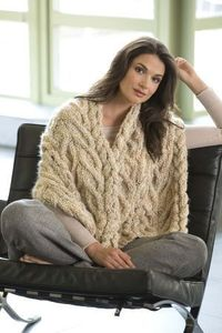 Beautiful faux cabled shawl, would make a lovely gift for a mother or aunt.