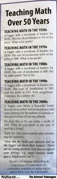 Teaching Maths over 50 years humor #funny #humor #lol #funnypicture #PMSLweb