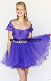Purple Layered Short Style-Sleeve Cheap Short Style Tulle Homecoming Dress Girls Unique