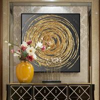 Gold art Acrylic abstract Paintings On Canvas original black painting Large texture wall pictures home decor cuadros abstractos hand painted $140.00