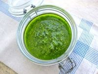 Jenny's everyday essentials homemade Pesto sauce.....yum!