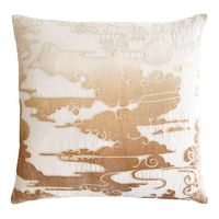 Nickel Clouds Velvet Appliqué Pillow $293.00