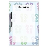 Fun Flip Flop Pattern Custom Name Dry-Erase Board